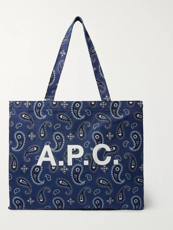 A.P.C. Diane Logo-Print Cotton-Canvas Tote