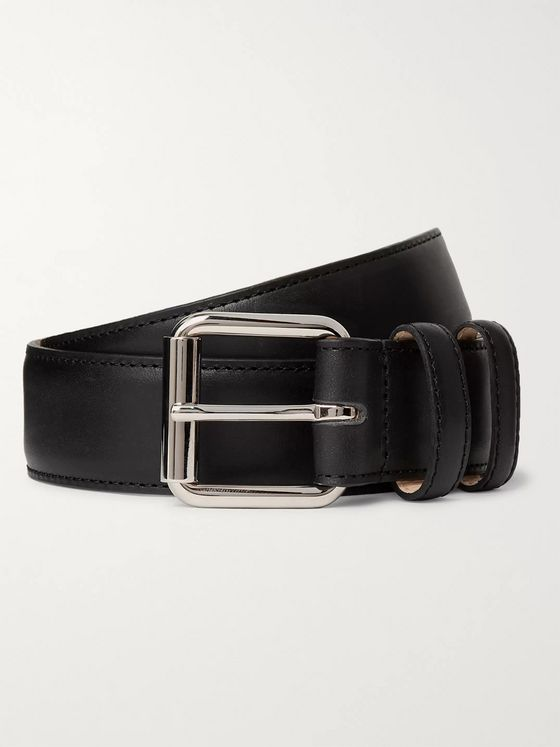 A.P.C. 3cm Black Leather Belt