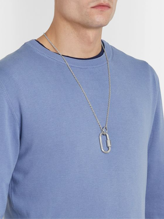 A.P.C. Carabiner Silver-Tone Necklace