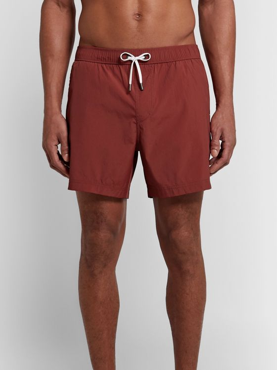Ermenegildo Zegna Mid-Length Textured Swim Shorts