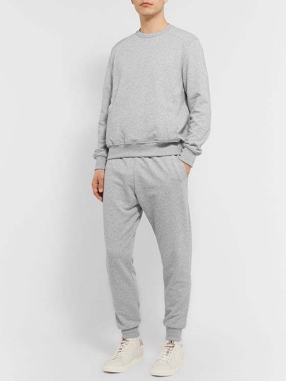 Ermenegildo Zegna Mélange Loopback Cotton-Blend Jersey Sweatshirt and Sweatpants Set