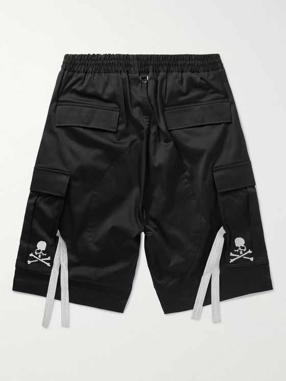 MASTERMIND WORLD Logo-Embroidered Cotton-Blend Twill Cargo Shorts
