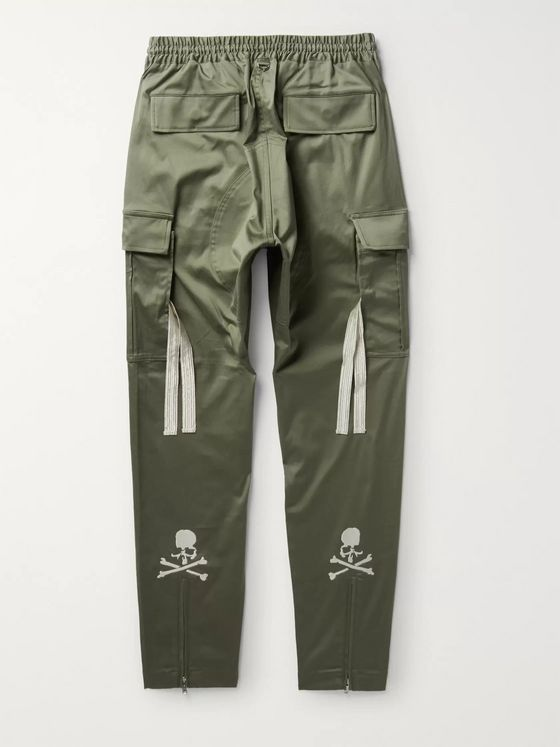 MASTERMIND WORLD Tapered Stretch-Cotton Drawstring Trousers