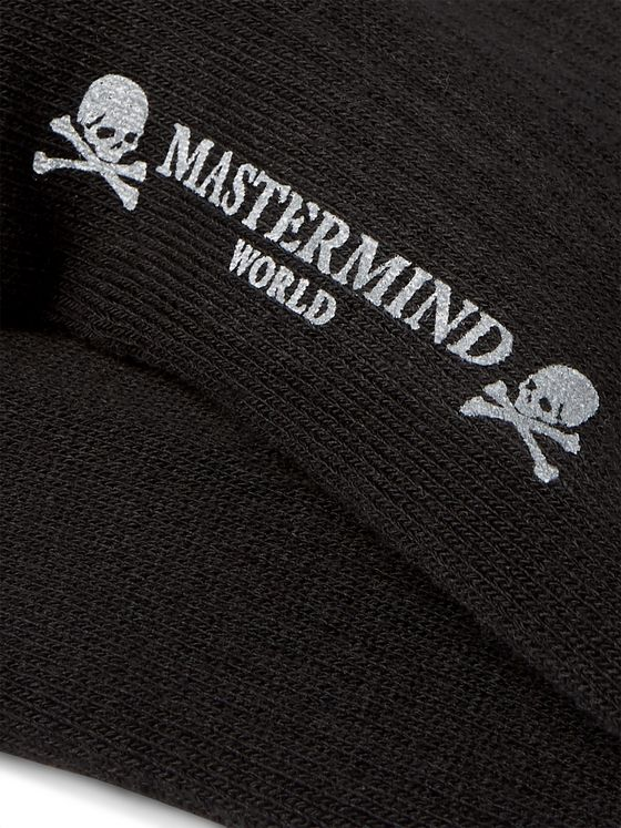 MASTERMIND WORLD Logo-Intarsia Stretch Cotton-Blend Socks