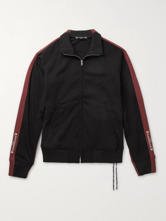 MASTERMIND WORLD Striped Jersey Track Jacket