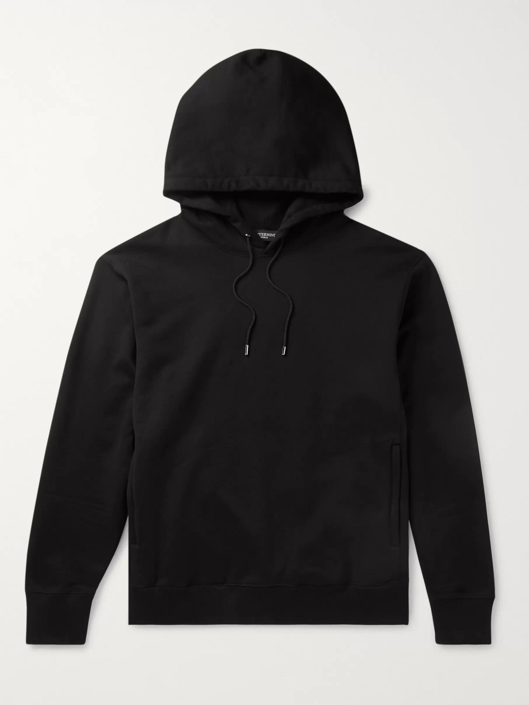 Black Logo-embellished Loopback Cotton-jersey Hoodie | Mastermind World