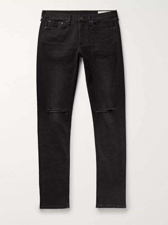 rag & bone Fit 1 Skinny-Fit Distressed Denim Jeans