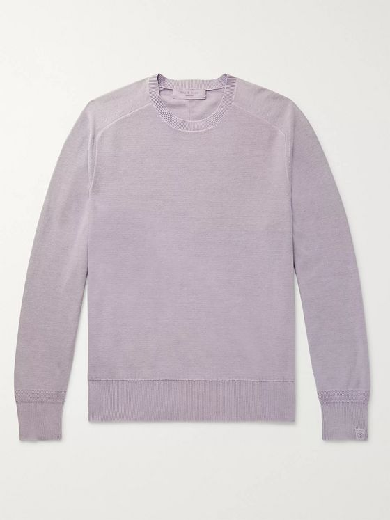 rag & bone Lance Slim-Fit Garment-Dyed Cotton Sweater