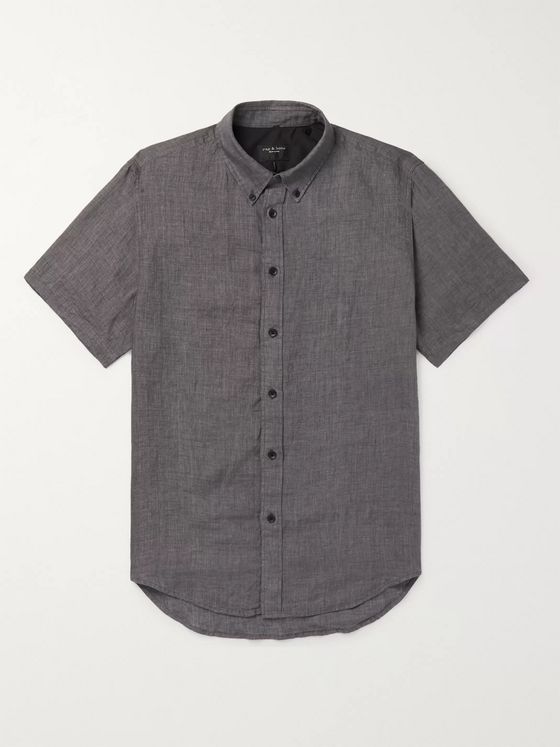 rag & bone Fit 2 Tomlin Button-Down Collar Linen Shirt