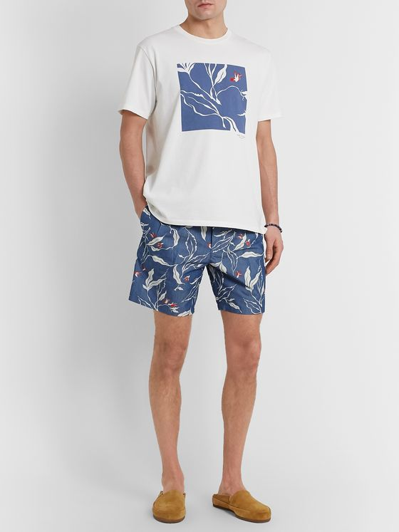 rag & bone Jackson Floral-Print Cotton-Blend Canvas Shorts