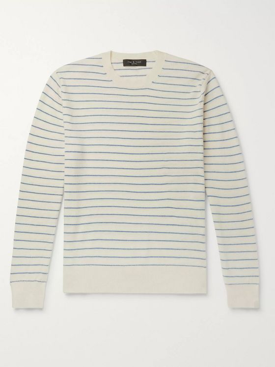 rag & bone Harlow Striped Wool and Cashmere-Blend Sweater