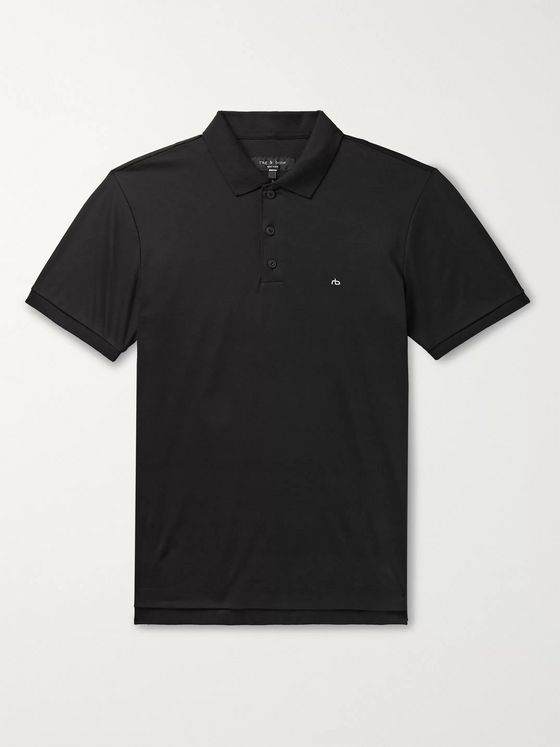 rag & bone Slim-Fit Logo-Embroidered Cotton-Jersey Polo Shirt