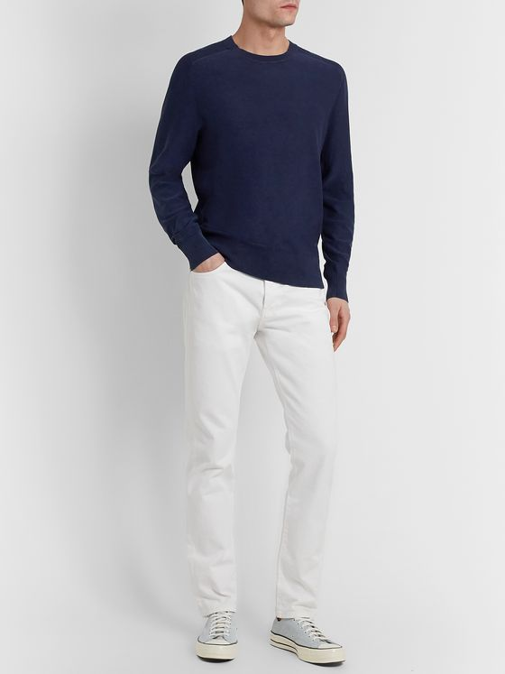 rag & bone Lance Garment-Dyed Cotton Sweater