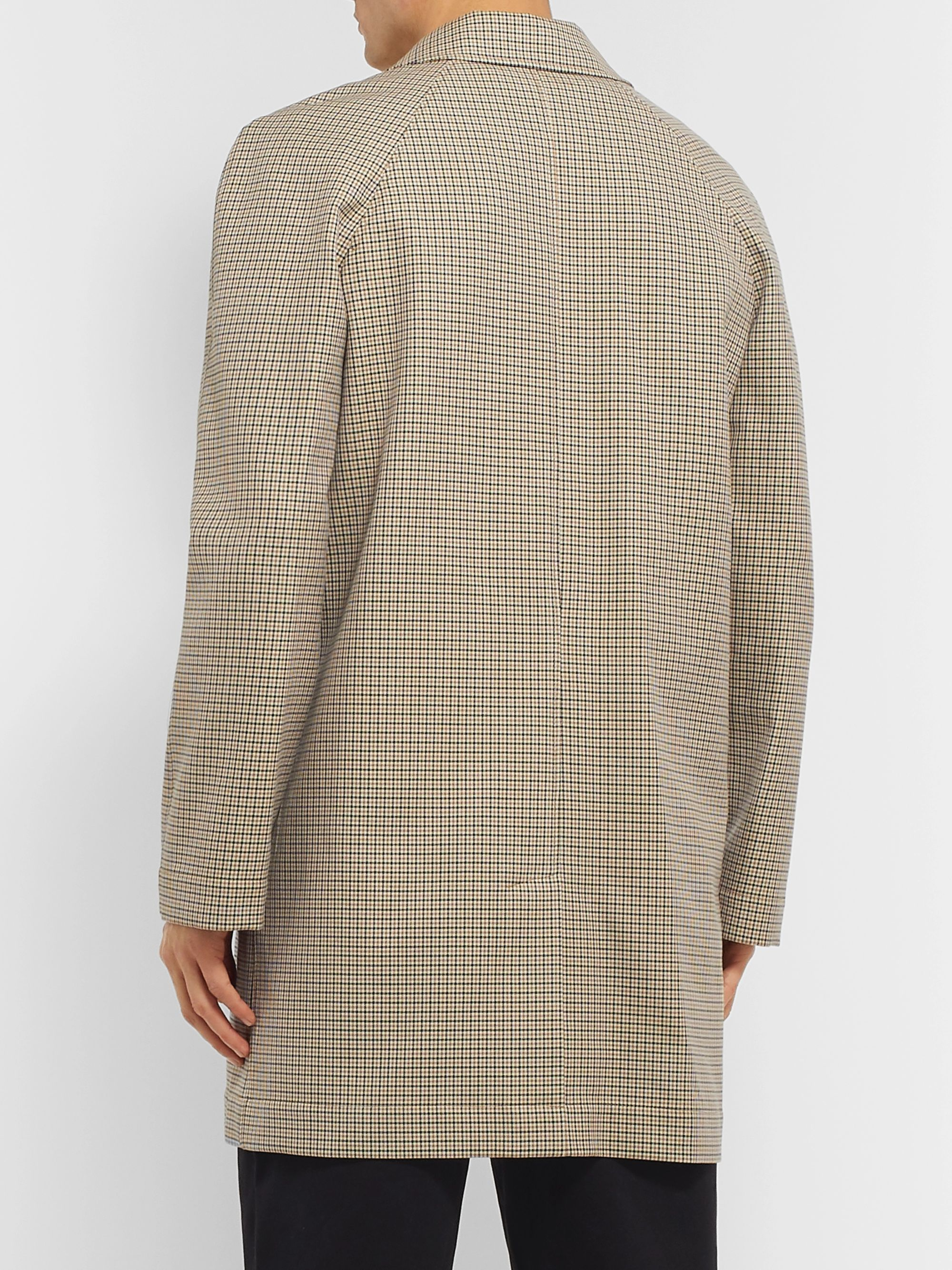 A.P.C. Phil Micro-Checked Cotton-Twill Trench Coat