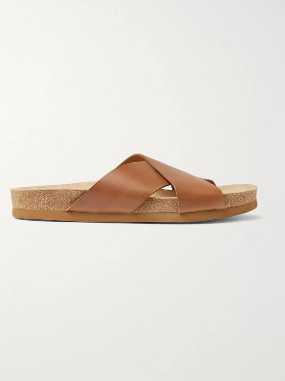 A.P.C. Leather Slides
