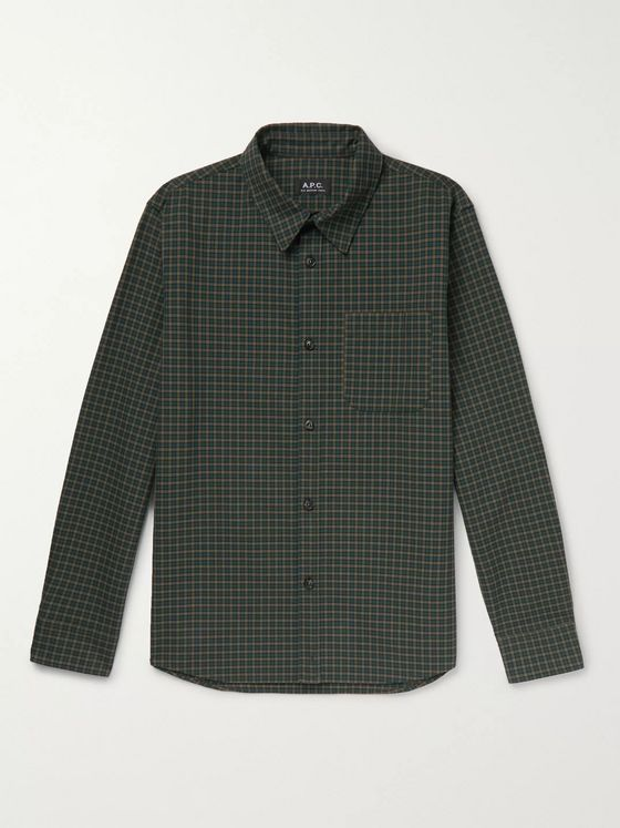 A.P.C. Trek Checked Cotton-Flannel Overshirt