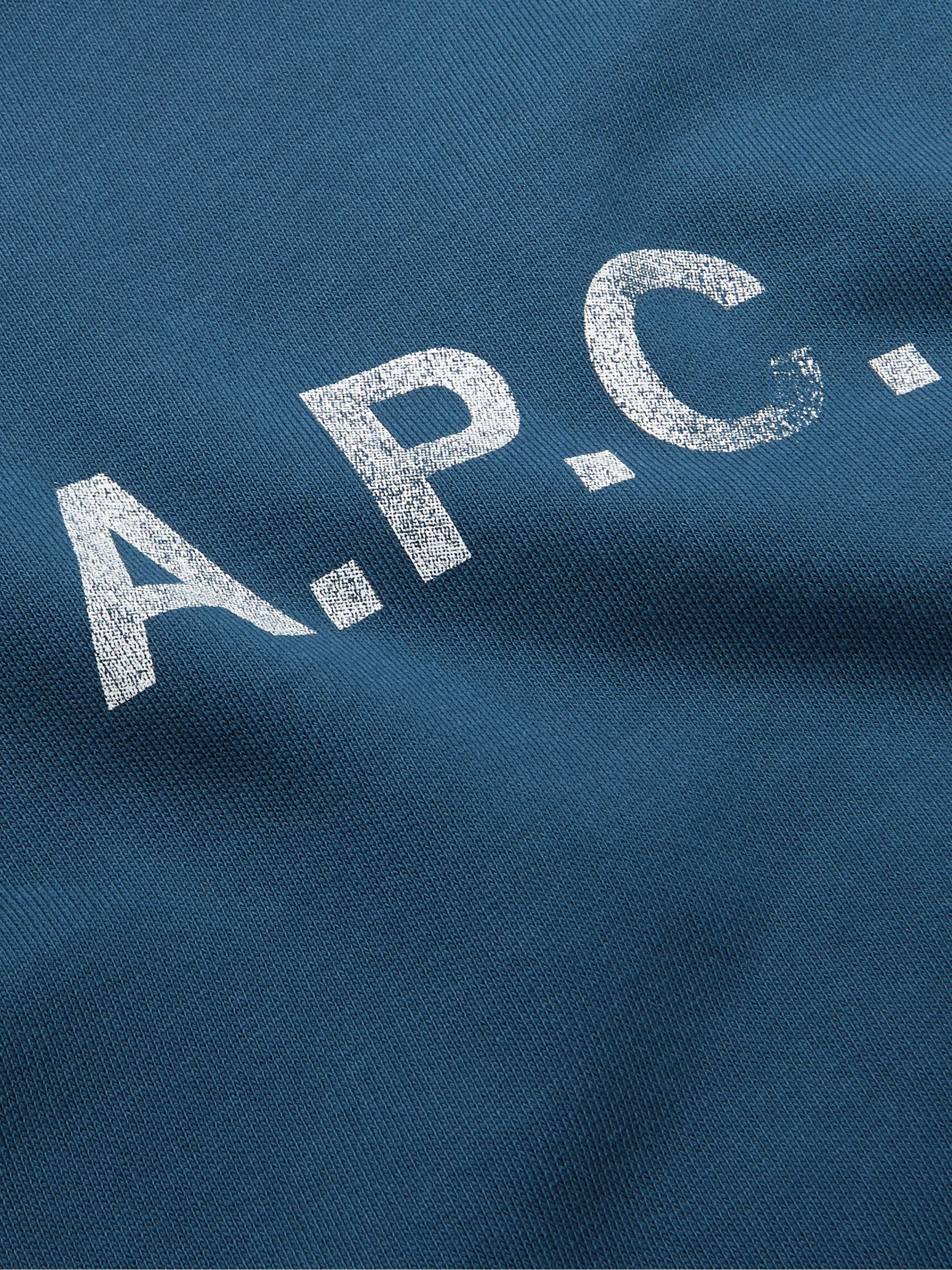 A.P.C. Slim-Fit Logo-Print Loopback Cotton-Jersey Sweatshirt