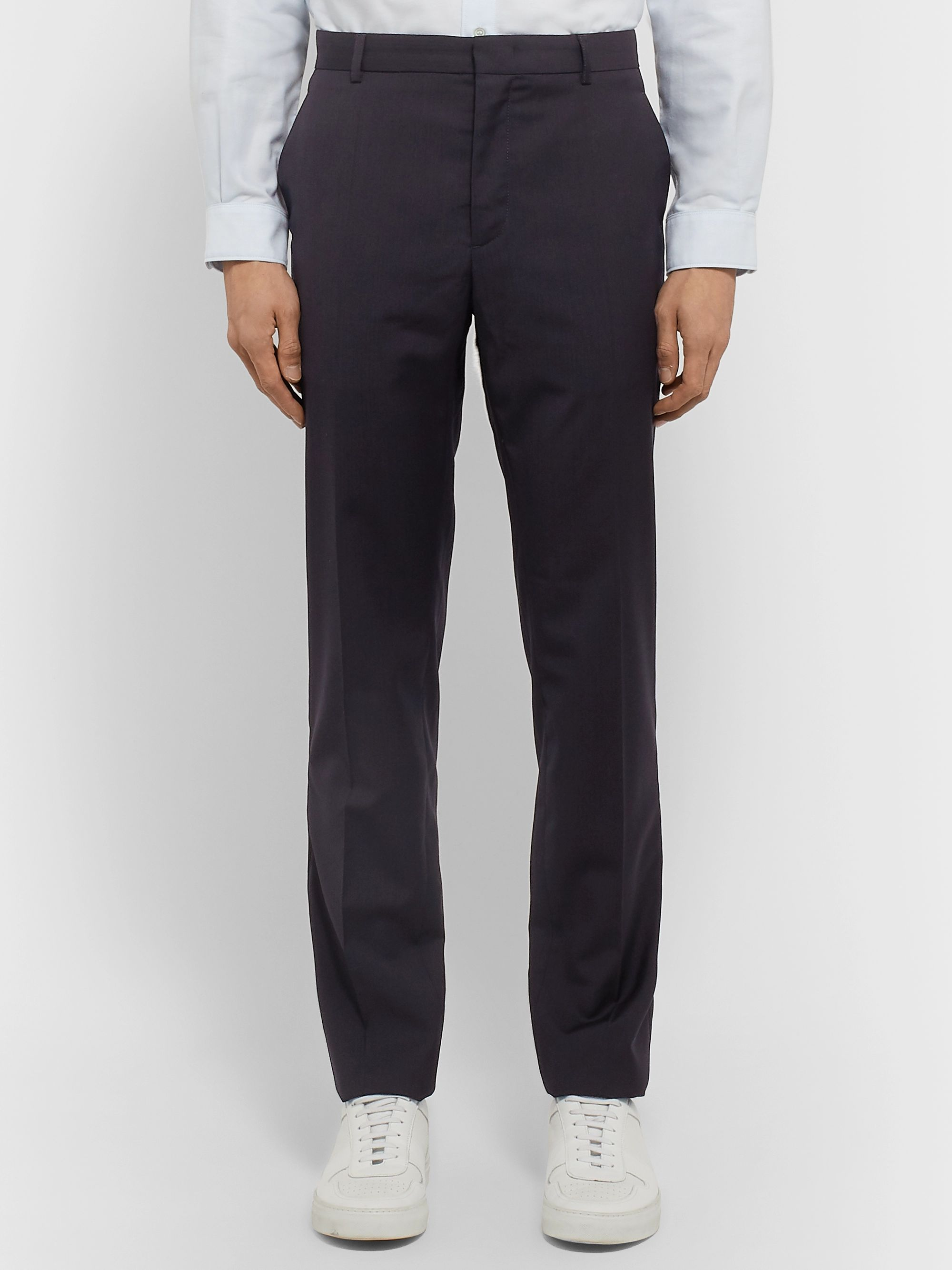 A.P.C. Navy Kaplan Wool Suit Trousers