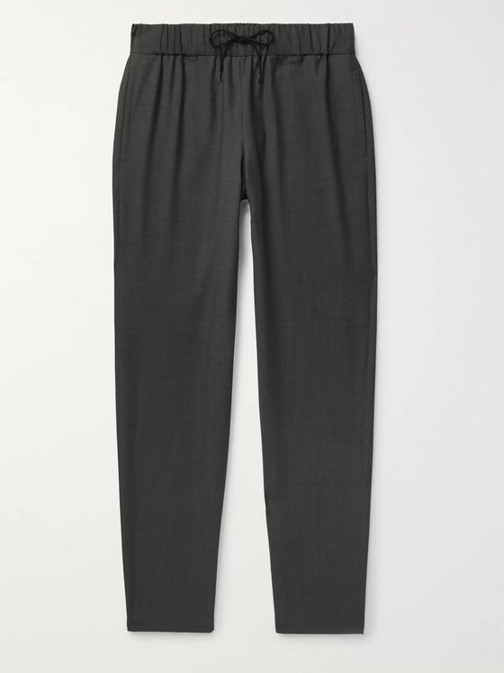 A.P.C. Kaplan Herringbone Cotton Drawstring Trousers