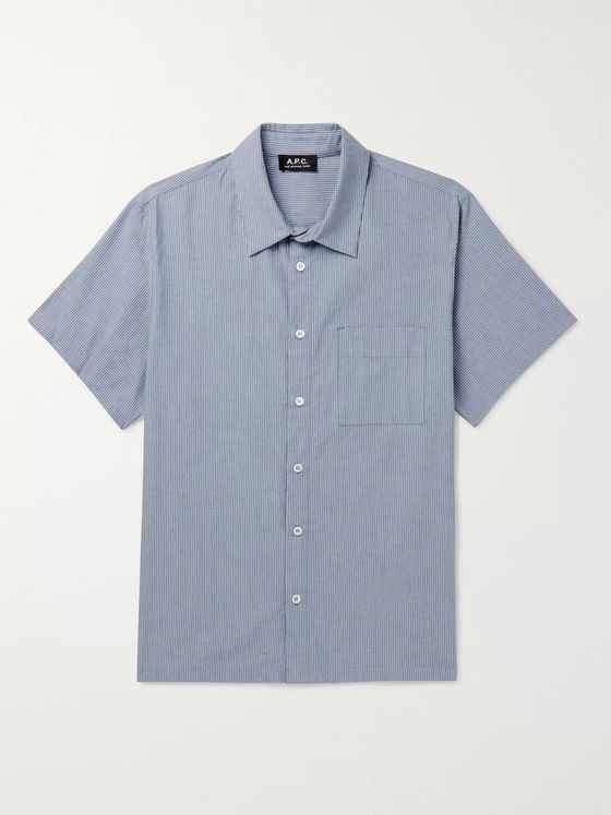 A.P.C. Bruce Pinstriped Cotton-Chambray Shirt