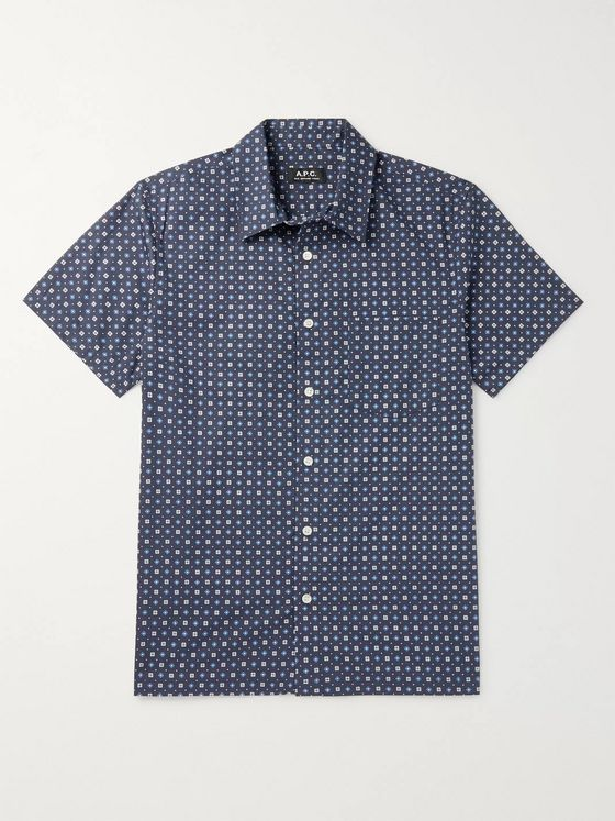 A.P.C. Cippi Printed Cotton-Poplin Shirt