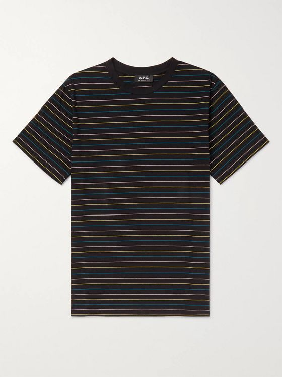 A.P.C. Milo Striped Cotton-Jersey T-Shirt