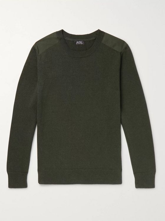 A.P.C. Ranger Panelled Egyptian Cotton Sweater