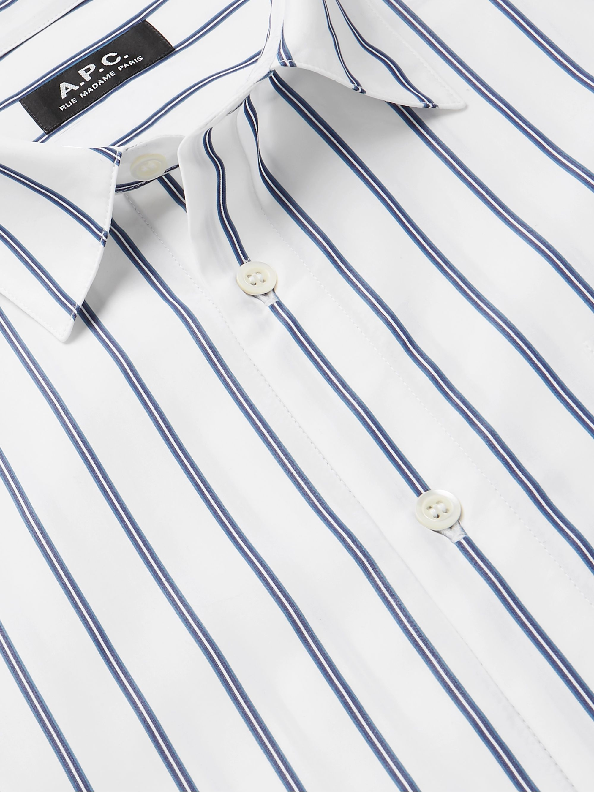A.P.C. Rami Striped Cotton Shirt