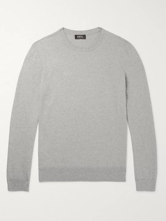 A.P.C. Julien Mélange Cotton and Cashmere-Blend Sweater