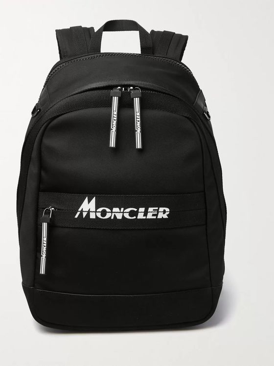 Moncler Gimont Logo-Print Grosgrain-Trimmed Canvas Backpack