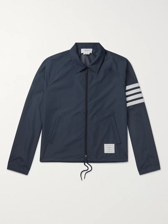 Thom Browne Slim-Fit Striped Shell Jacket