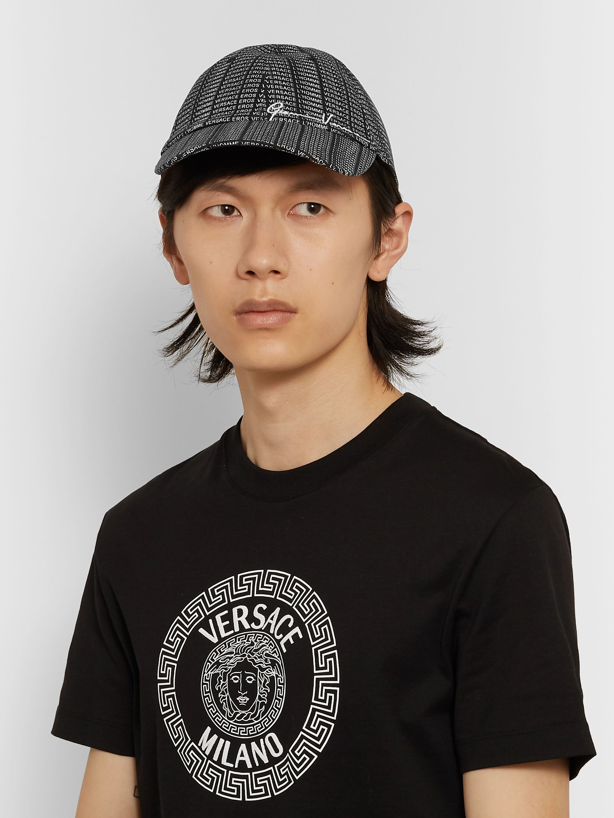 Versace Logo-Print Cotton-Blend Twill Baseball Cap