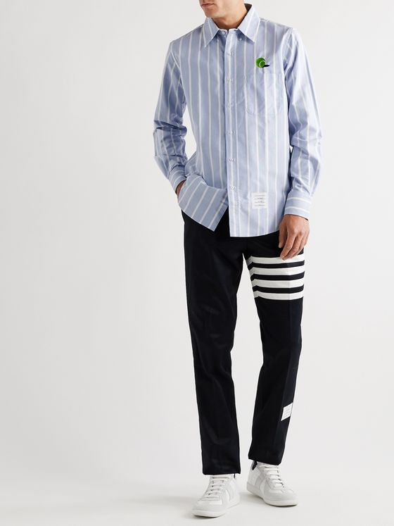 Thom Browne Striped Cotton Oxford Shirt