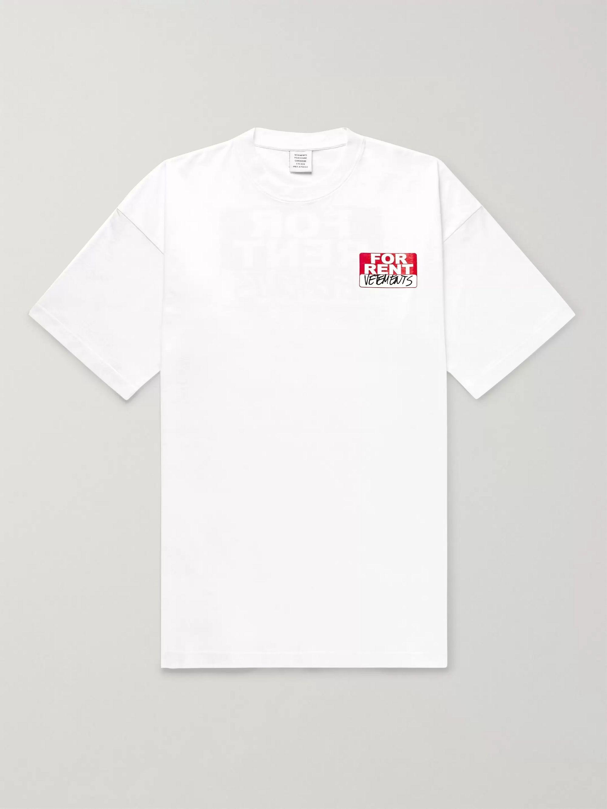 Oversized Logo Print Cotton Jersey T Shirt