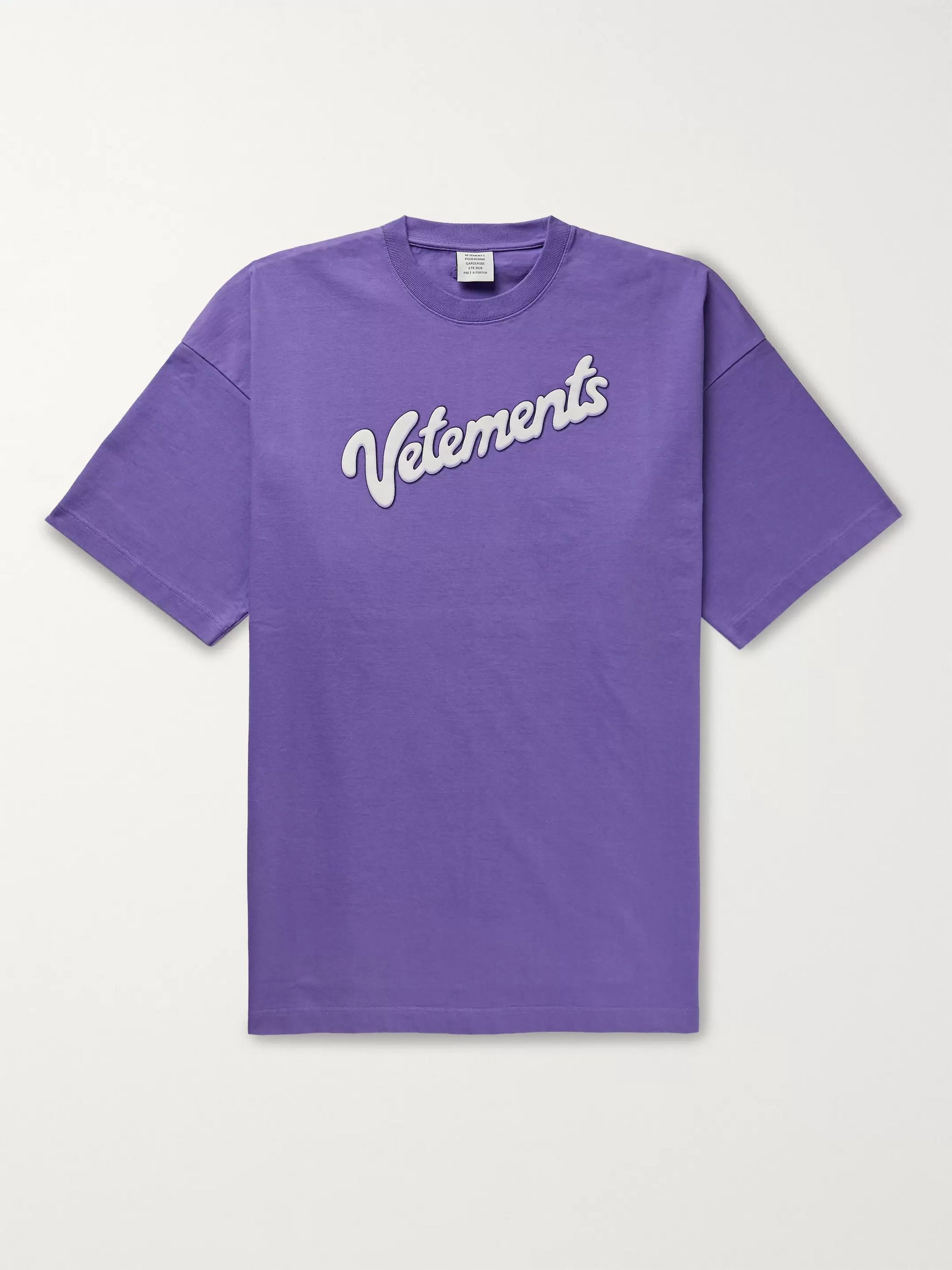 Vetements Oversized Logo-Print Cotton-Jersey T-Shirt