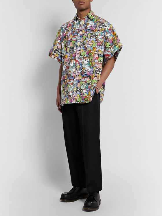 Vetements Oversized Printed Cotton Shirt
