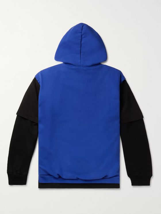 Vetements Oversized Appliquéd Cotton-Blend Jersey Hoodie