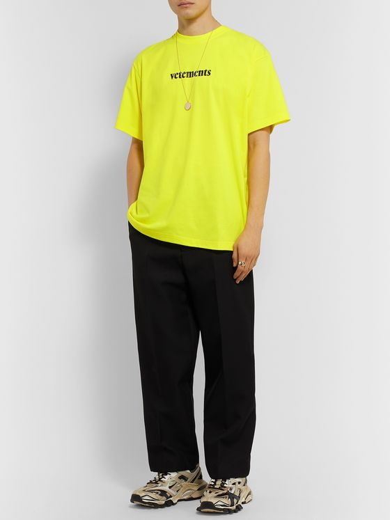 Vetements Appliquéd Logo-Print Cotton-Jersey T-Shirt