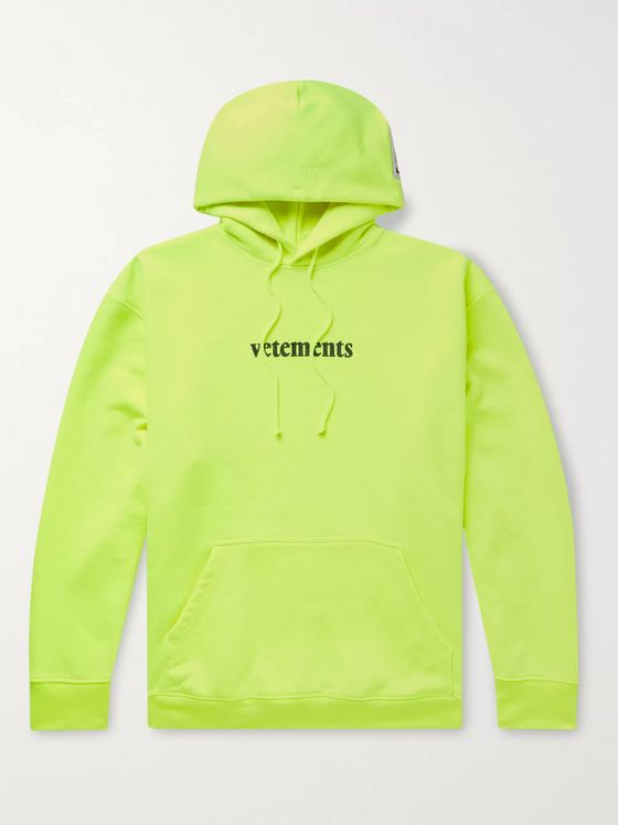 Vetements Logo-Detailed Loopback Jersey Hoodie