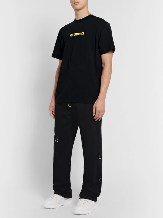 Vetements Oversized Logo-Print Neon Jersey T-Shirt