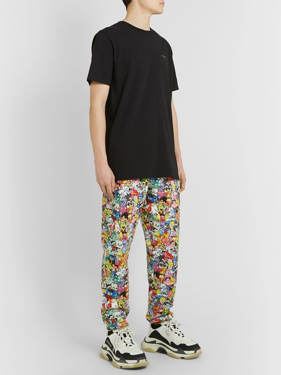 Vetements Tapered Printed Loopback Cotton-Jersey Sweatpants