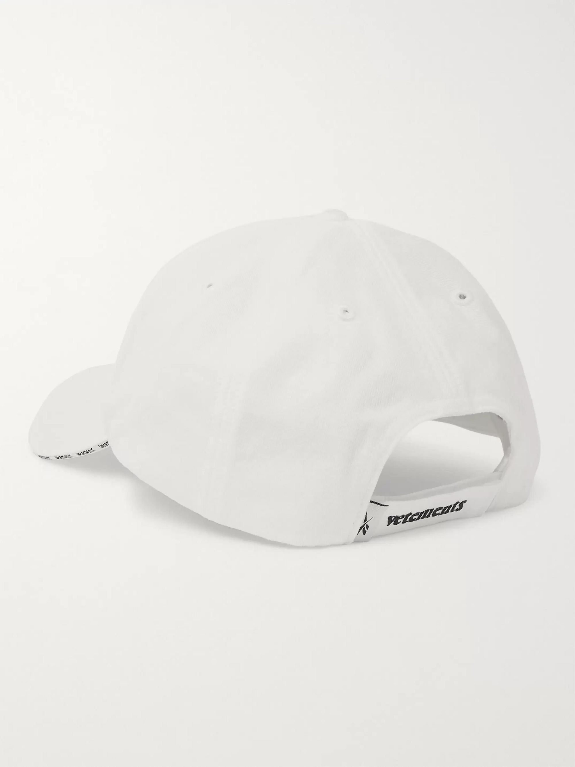 Vetements + Reebok Logo-Embroidered Cotton-Twill Baseball Cap