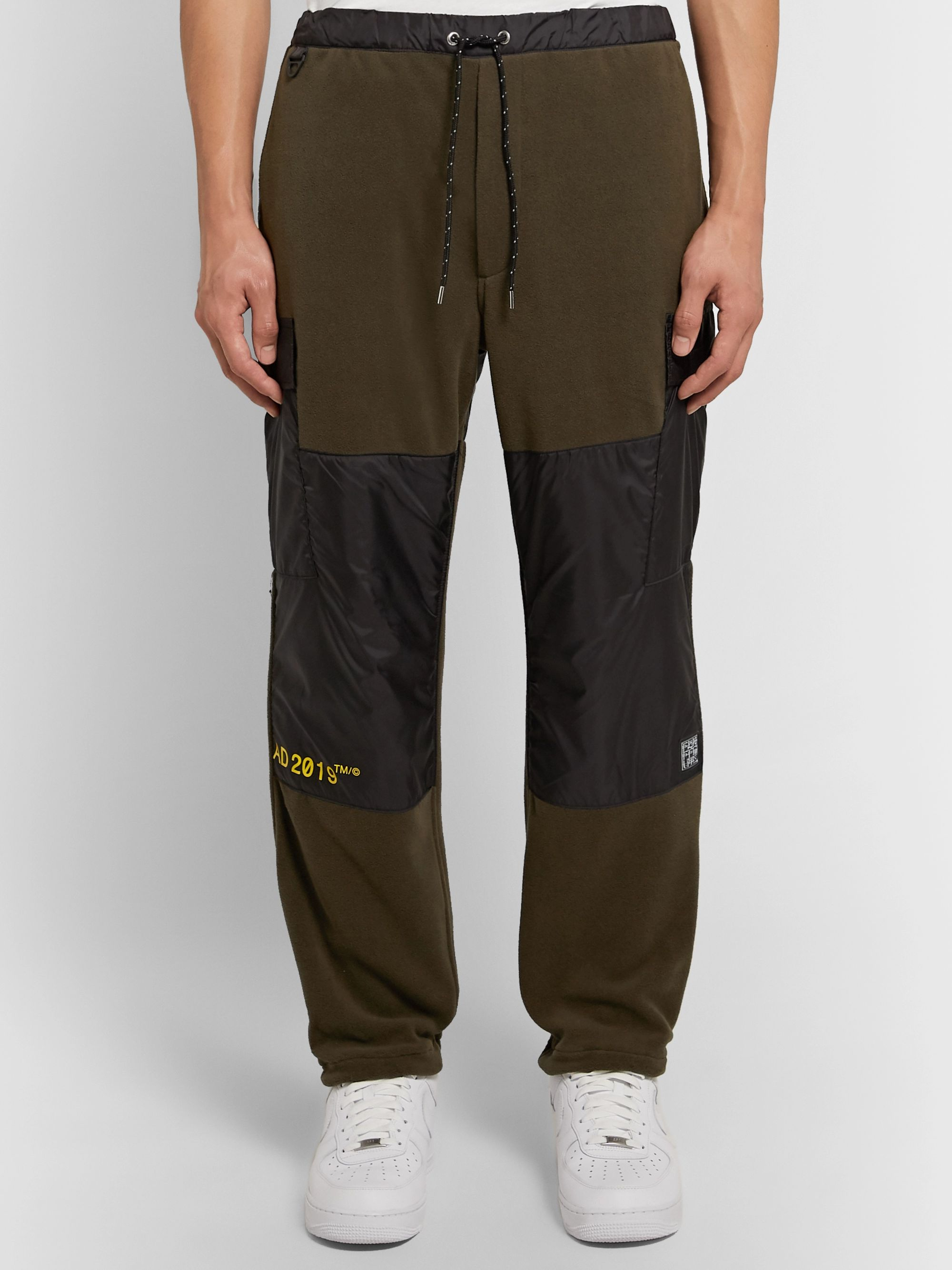 Flagstuff Slim-Fit Shell-Trimmed Fleece Cargo Sweatpants