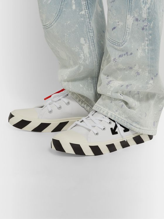 Off-White Logo-Appliquéd Canvas Sneakers