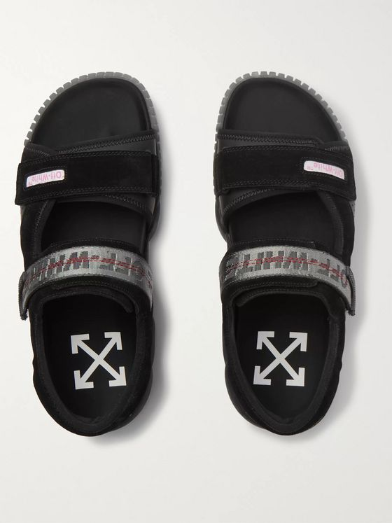 Off-White Oddsy Suede and Rubber Sandals