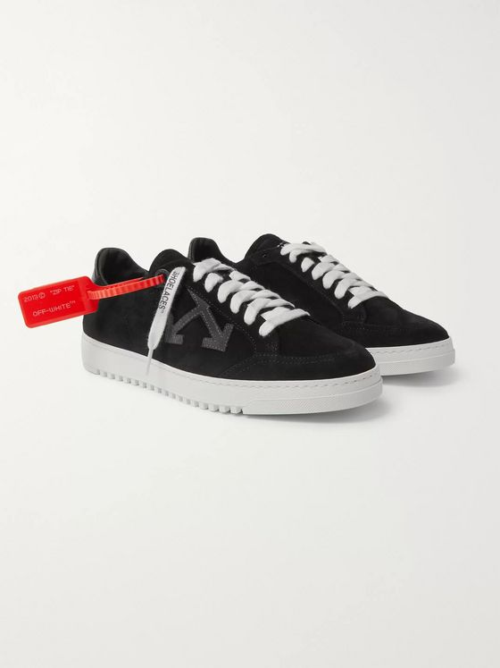Off-White 2.0 Leather-Trimmed Suede Sneakers