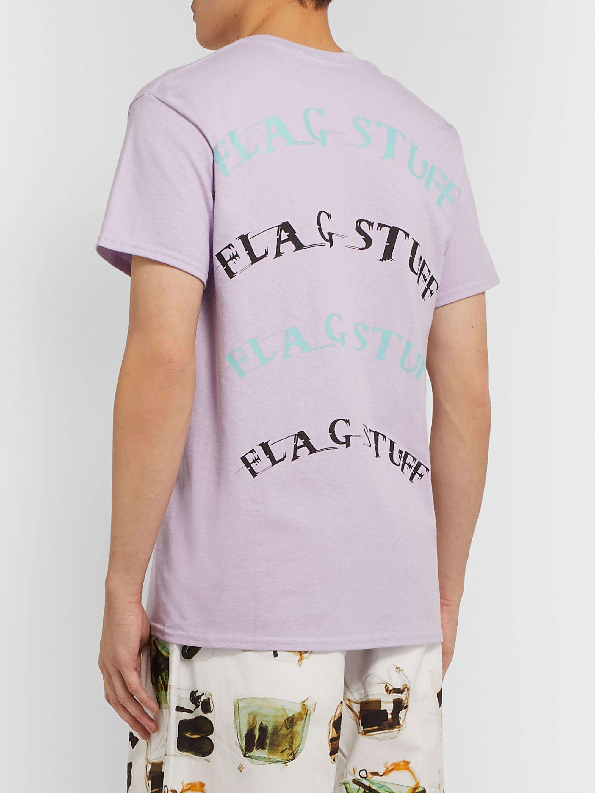 Flagstuff Printed Cotton-Jersey T-Shirt