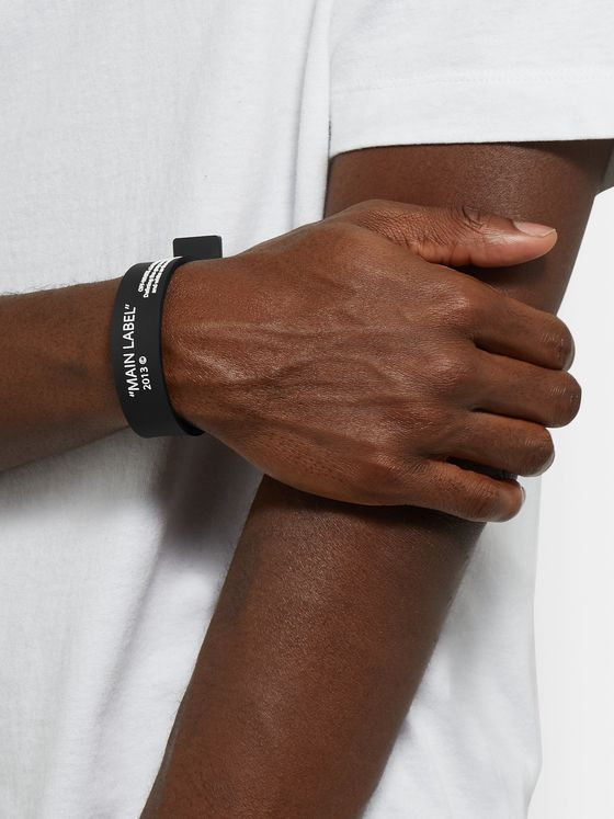 Off-White Printed Rubber Bracelet