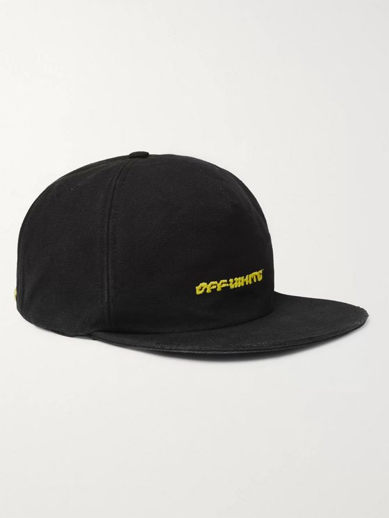 Off-White Logo-Embroidered Cotton-Twill Baseball Cap