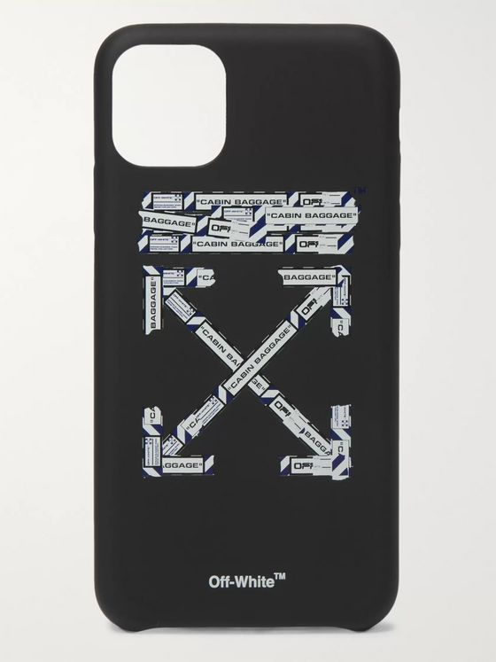 Off-White Logo-Print PVC iPhone 11 Max Case